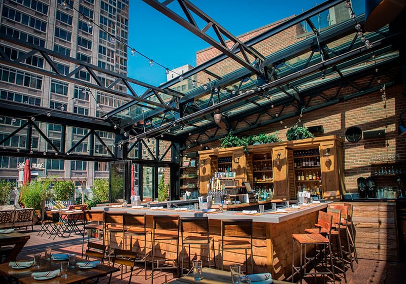Refinery Rooftop Restaurant and Bar in NYC - Lounge and
